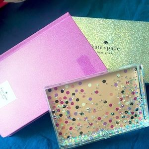 NWT! KATE SPADE pink glitter notebook and frame💕